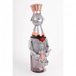 Porte bouteille métal décor...